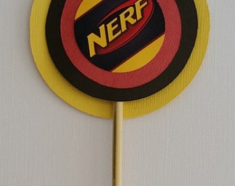 Set of 12 Nerf Inspired Kabob Toppers