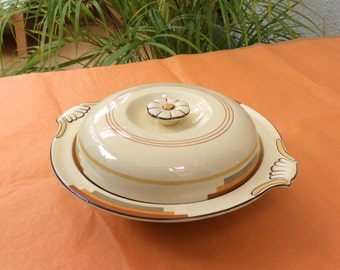 Art Deco Booths 'silicon china' tureen serving dish