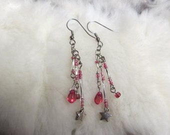 Starry Pink Sky Earrings