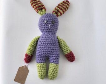 Super cute cuddly crochet bunny