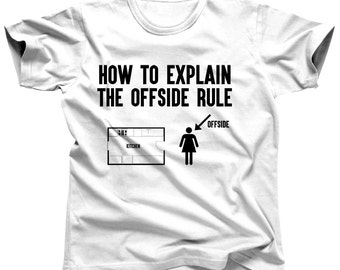 Men's Football Shirt - Offsides - Football Tshirt - Football Party - Football Season - Football Clothing - Football Team - American Football