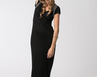 Short Sleeve Black Dress, Long Summer Dress, Bodycon Dress, Fitted Dress, Boho Dress, Casual Dresses, Black Dress