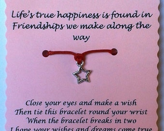 Friend gift, Friend Wish Bracelet, Friendship bracelet, Charm bracelet, Friend Bracelet, Friend Jewelry, Gift Friend, Quote Jewelry, Friends