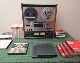 TEAC A-4300SX Reel to Reel Tape Player with tapes