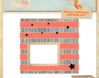 12 x 12 digital quick premade page for Scrapbooking