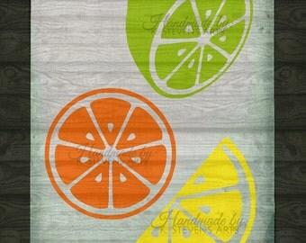 Citrus Decal- svg file - Citrus File for Silhouette -Citrus svg - Cutting File For Cricut - Lime file svg - Lemon svg