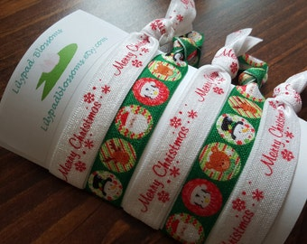 Christmas Character Hair Tie Pack