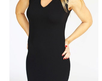 Black mini day dress  summer dress Bodycon Pencil dress