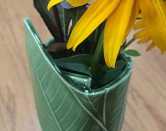 Ceramic Green Bud Vase/Pen Holder