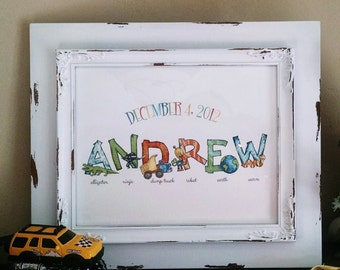 One Name from Boy Alphabet Print