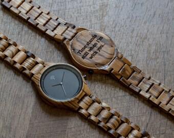 Black Wood Watch, Black Wood Watch,mens Watch,groom Present, Wedding,