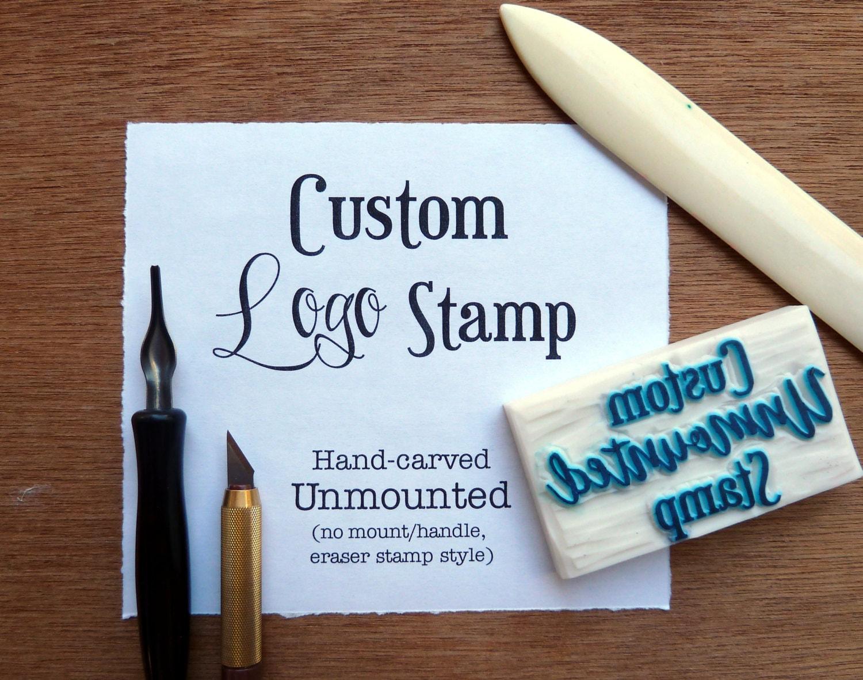 LOGO STAMP custom Rubber Stamp custom stamp rubber stamp   Custom Logo Rubber