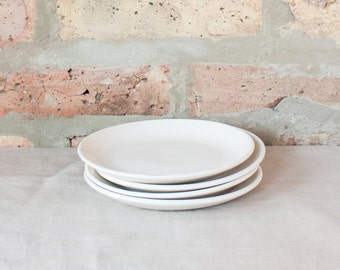 Small White Appetizer Plates by Barombi Studios