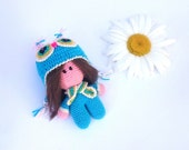 Little Amigurumi doll Crochet baby Doll Knitted stuffed toys for girls Rag doll little girl gifts Soft cute crocheted toy