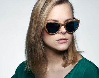Cateye Wood Shades, Polarized Womens Wood Shades | Womens Eyewear