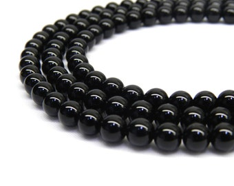 Black Onyx, 8mm Beads, Black Onyx Beads, 8mm Gemstone Beads, 6mm Beads, Black Beads, 8mm Black Beads, 8mm Round Beads, 6mm Gemstones Beads