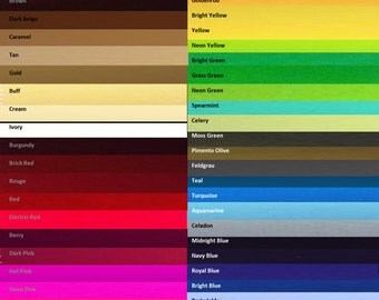 Solid Matte Swimwear Spandex by the Yard - Your Choice of over 60 Colors