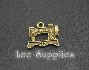 20pcs Antique Bronze Sewing Machine Charms Pendant, DIY Jewelry Findings A1435