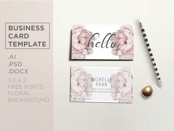 floral business card template elegant business card design