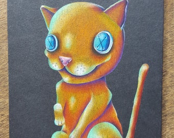 Party Cat Drawing (PRINT ONLY)