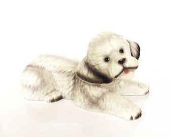 Vintage Bichon Poodle Dog Figurine