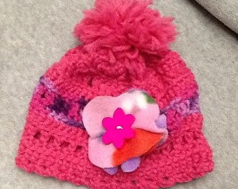 Hand Crocheted Hat for Toddler Girl