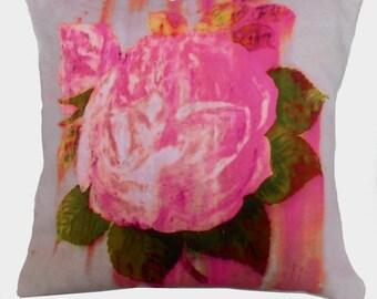 Rusty Rose Digital Printed Cushion