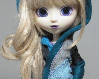 Pullip short coat teals, black and grey