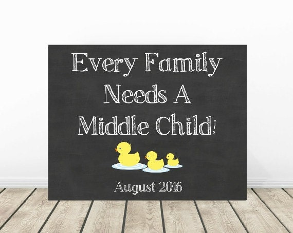 Baby Gift Ideas Third Child : Baby number announcement photo prop rd by