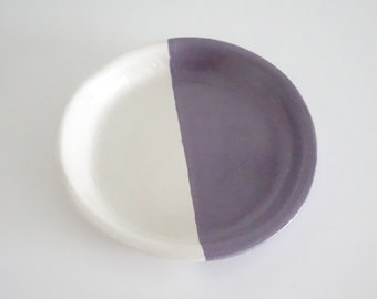 Purple and white jewellery dish, ring dish, purple, trinket bowl, jewellery dish, accessories dish, gifts her her, bridesmaid gifts