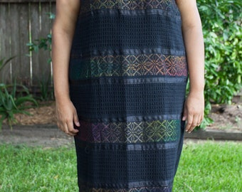 Embroidered Mexican Dress XL