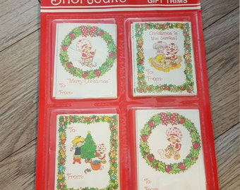 Strawberry Shortcake Christmas Gift Tags Trims New in Package 1982