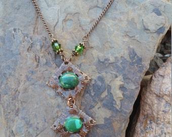 Malachite Necklace / one of a kind / zen