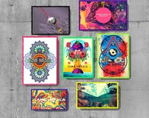 Tame Impala - Tame Impala magnets - Tame impala gift set - wooden magnets - wood prints - band magnets - psychedelic art - set of 7 - psych