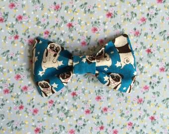 Pug Print Bow Tie