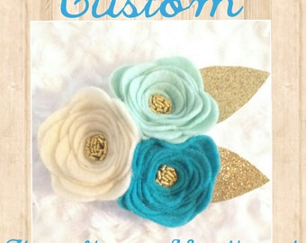 Custom 3 Flower Headband