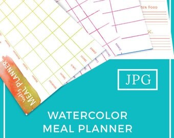 Printable Meal Planner-Watercolor-Weekly Planner