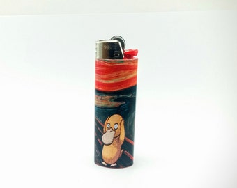 Pokemon Psyduck as The Scream by Edvard Munch Custom Lighter