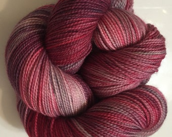 SALE! Price Reduced 15%!!! 80/20 SW Merino and Nylon Sock - Summer Violets