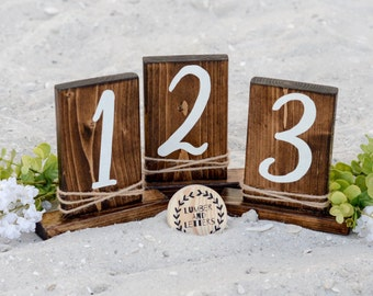 Rustic Table Numbers - Primitive Wedding Table Numbers - Table Numbers Wood - Standing Table Numbers - Table Numbers Wood - Table Numbers