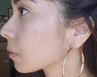 10k Gold Large Hoop Earrings
