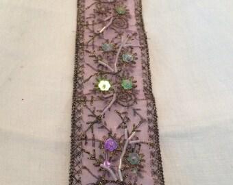 Bookmark, Purple Sequin  Wish,  Hope, Believe