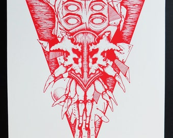 RorschArt (Red) limited edition serigraph