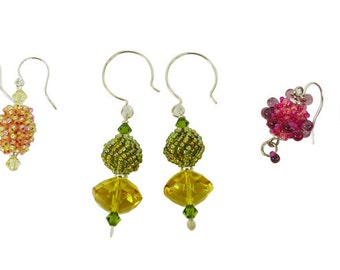 Beaded Bead Earring Medley Tutorial