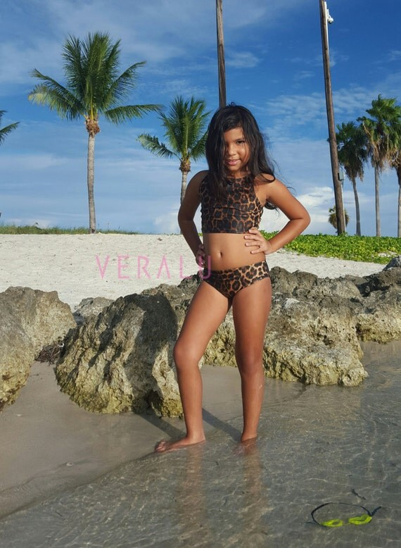 VERALU Little Diva Leopard swim bikini set