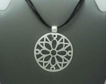 Mandala pendant silver