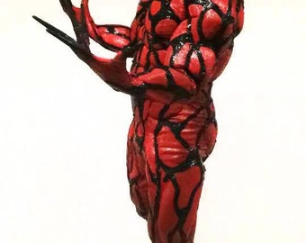 CARNAGE MUSCLE SUIT Red Spiderman Costume