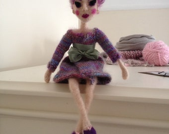 One of a kind, needlefelted, art doll
