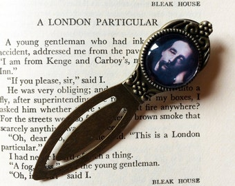 Charles Dickens Bookmark - Dickens Gift, Victorian Novelist Bookmark, Oliver Twist, Great Expectations, A Christmas Carol, Author Gift