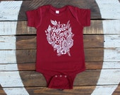 Apple of My Eye Baby Bodysuit - Cute Gender Neutral Baby Clothing - Candy Apple Red
